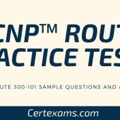 CCNP Route Practice Tests