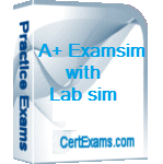 Comptia A+ 220-1001 Practice Test with lab sim BoxShot