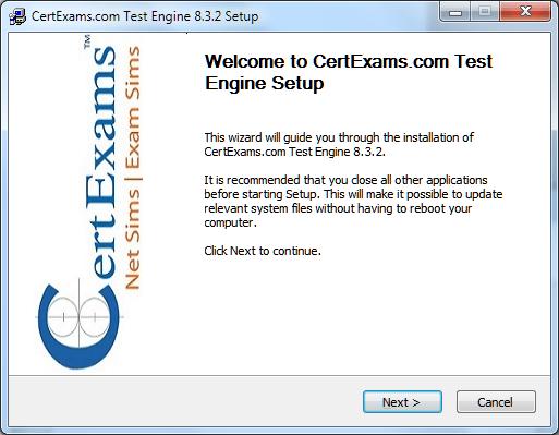 Certexams.com Product Install Setp 4
